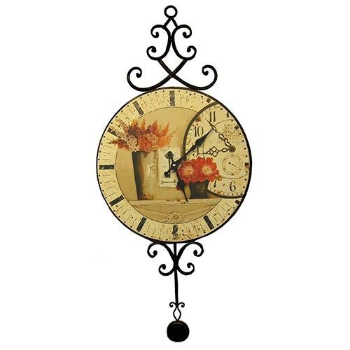Relógio MDF Flowers / Pêndulo Oldway - 38 cm