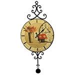 Relógio MDF Flowers / Pêndulo Oldway