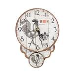 Relógio em MDF Galo Oldway - 19x14 cm