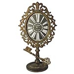 Relógio de Mesa Arabescos Key Base Oldway - Metal - 52x27 cm