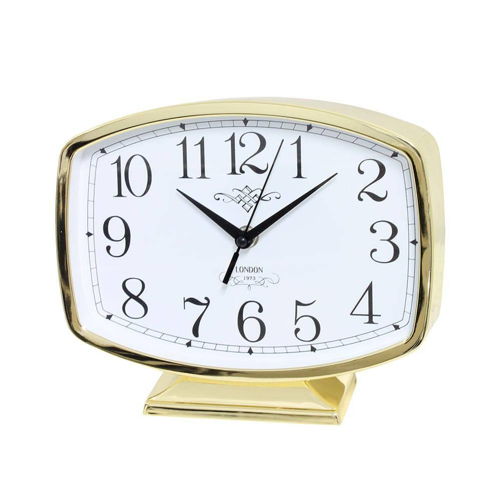 Relógio de Mesa Belle Gold Goldway - 19x22 cm