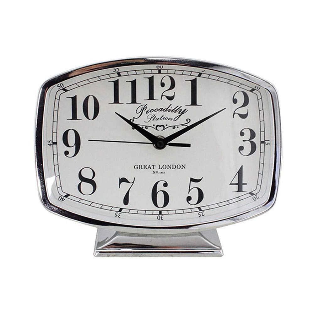 Relógio de Mesa Belle Silver Goldway - 19x22 cm