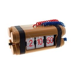 Relógio de Mesa Bomba Explosiva - Sistema Flip R$ 959,99 R$ 669,99 10x de R$ 67,00 sem juros