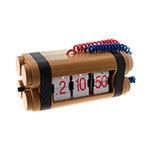 Relógio de Mesa Bomba Explosiva - Sistema Flip - 23x10 cm