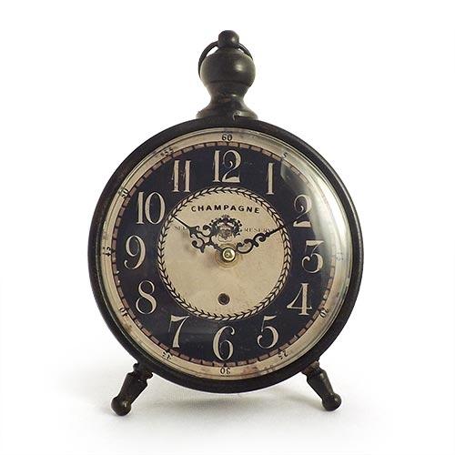 Relógio de Mesa Champagne Blue Finish Oldway - 23x17cm