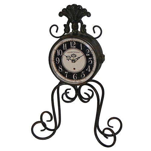 Relógio de Mesa Champagne Dupla Face Oldway - 45x28cm
