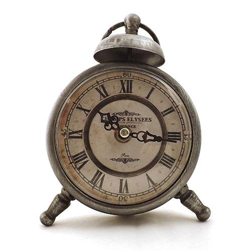 Relógio de Mesa Champs Elysees - Em Metal e Vidro - 11x21cm