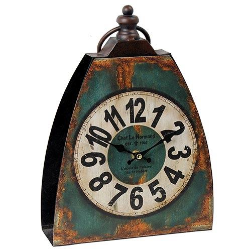 Relógio de Mesa Chef Le Normand Azul Oldway - Metal - 32x23 cm