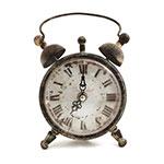 Relógio de Mesa Complete World Oldway - Em Metal e Vidro - 13,5x20 cm