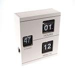 Relógio de Mesa Cubos Branco em Resina