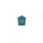 Relógio de Mesa Cuco Azul em silicone - 6x6 cm
