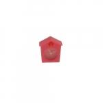 Relógio de Mesa Cuco Rosa em Silicone - 6x6 cm