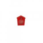 Relógio de Mesa Cuco Vermelho em Silicone - 6x6 cm