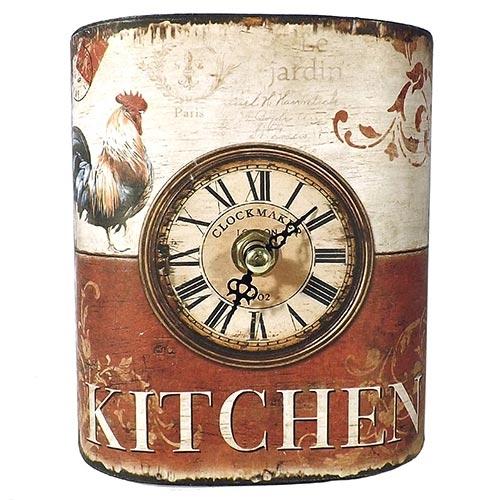 Relógio de Mesa Curvo Galo Kitchen Oldway - Metal - 14x11 cm