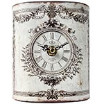 Relógio de Mesa Curvo Kensington Oldway Branco - Em Metal - 14x11 cm