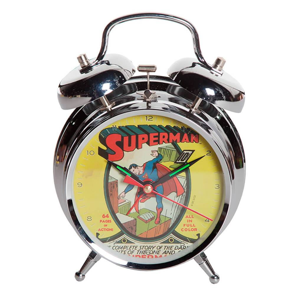 Relógio de Mesa DC Comics Superman Cover em Metal - Urban - 16x11,5 cm