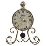 Relógio de Mesa Ferrugem c/ Pêndulo Oldway