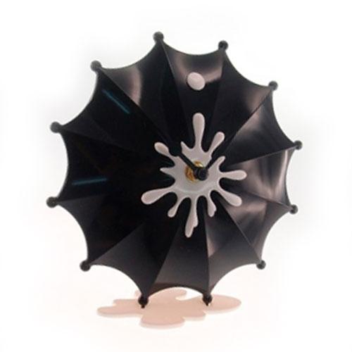 Relógio de Mesa Guarda Chuva Preto - 19x18 cm