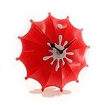 Relógio de Mesa Guarda Chuva Vermelho - 19x18 cm