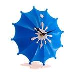 Relógio de Mesa Guarda-Chuva Azul - 19x18 cm