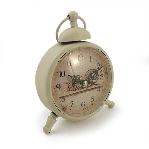 Relógio de Mesa Home Branco Oldway - 17x14cm