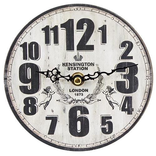 Relógio de Mesa Kensington Oldway - Em MDF - 15 cm