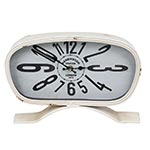 Relógio de Mesa Kensington Retrô Branco Oldway