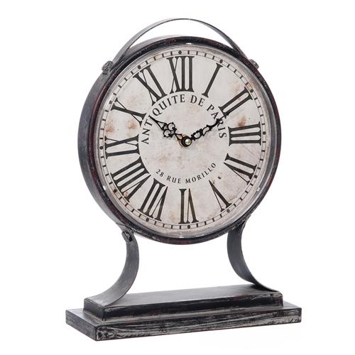 Relógio de Mesa Paris Escovado em Metal - 35x25 cm