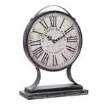 Relógio de Mesa Paris Escovado em Metal
