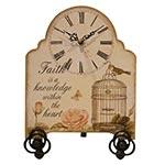 Relógio de Mesa Pássaro Gaiola Oldway