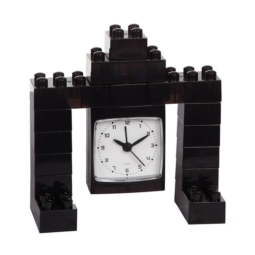 Relógio de Mesa Robot Preto- Urban - 13x12 cm