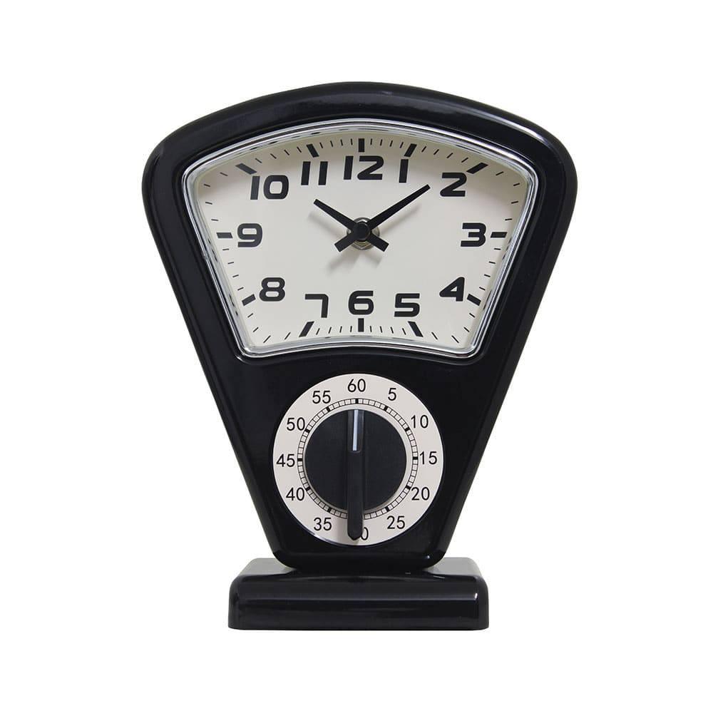 Relógio de Mesa Sam Black Oldway - 21x18 cm