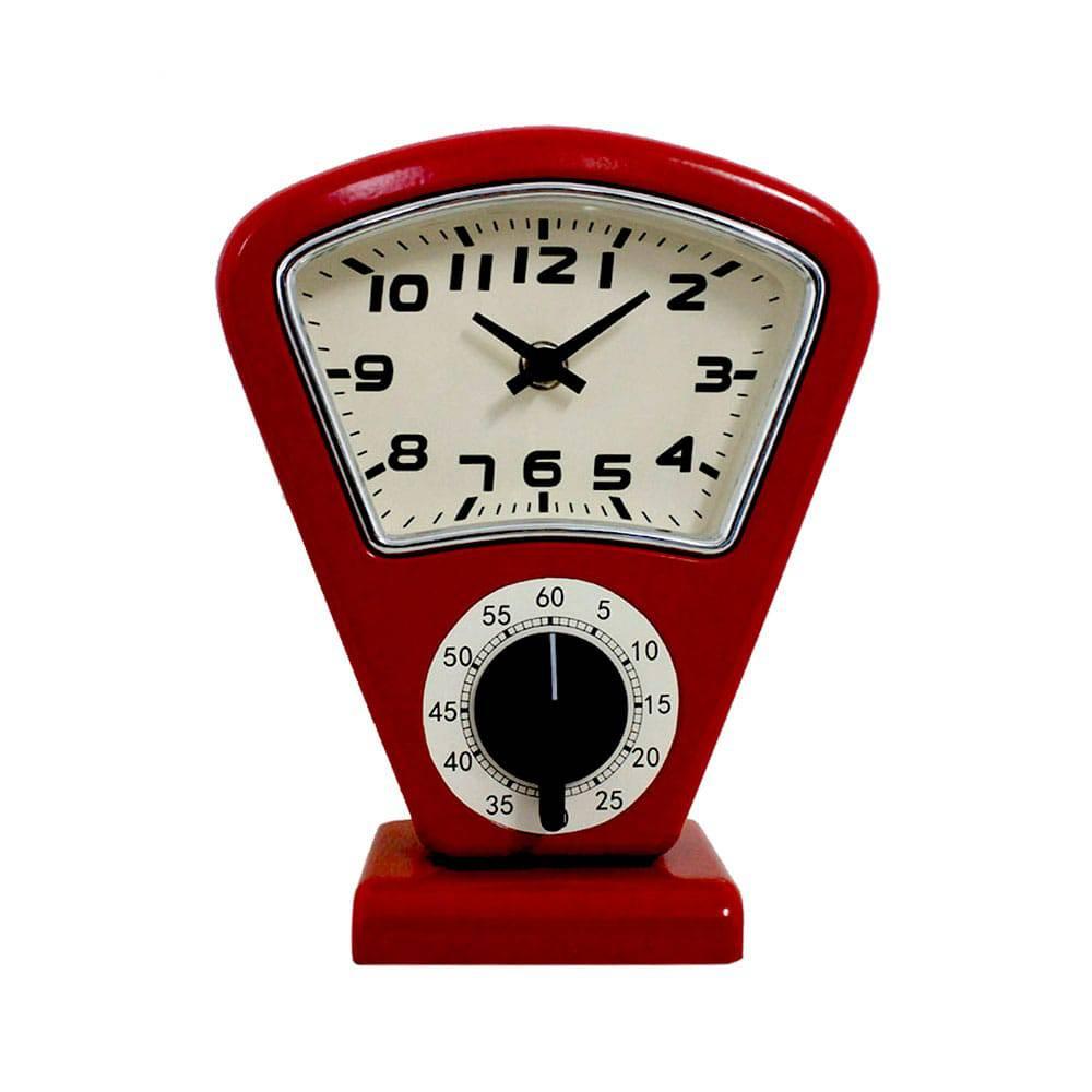 Relógio de Mesa Sam Red Oldway - 21x18 cm
