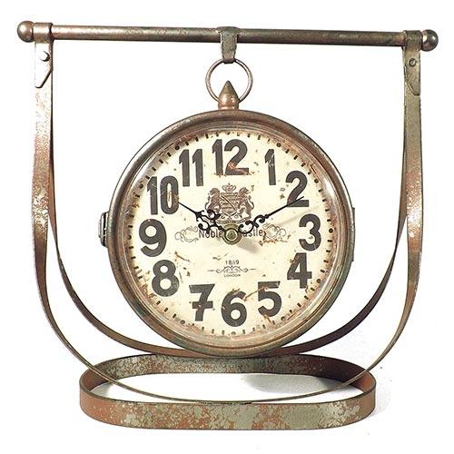 Relógio de Mesa Suspenso Noble Castle Oldway - Em Metal - 29x18 cm