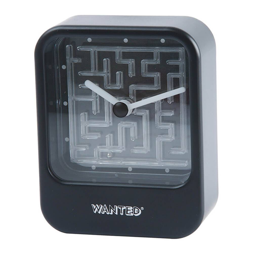 Relógio de Mesa Time To Get Lost Preto - Urban - 10x8 cm