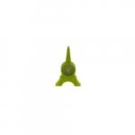 Relógio de Mesa Torre Eiffel Verde em Silicone - 12x8 cm