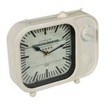 Relógio de Mesa TV White em Metal - 20x14 cm