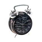 Relógio de Mesa Zebra/Purpurina