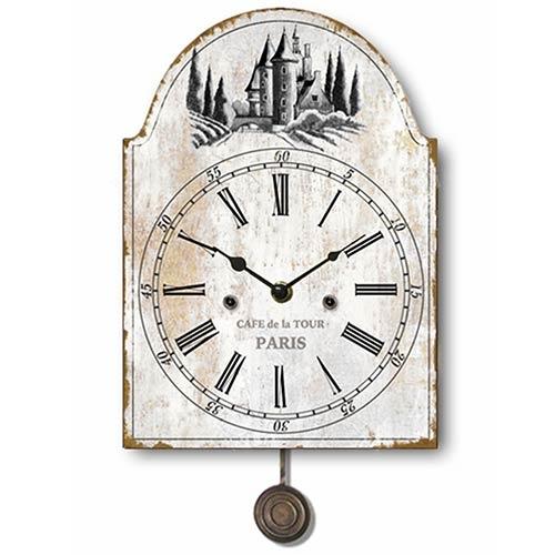 Relógio Metal Cafe de La Tour Pêndulo Oldway - 55x25cm