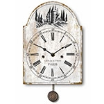 Relógio Metal Cafe de La Tour Pêndulo Oldway