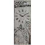 Relógio Metal Welcome All Friends Oldway - 100x35x4 cm