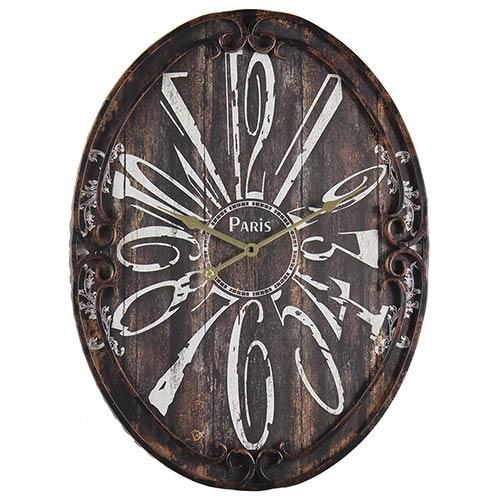 Relógio Oval de Parede Paris Oldway - 60x45cm