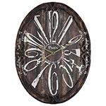Relógio Oval de Parede Paris Oldway