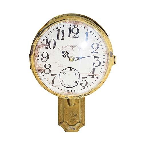 Relógio de Parade Amarelo em Ferro Oldway - 38x32 cm