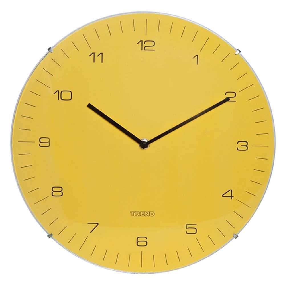 Relógio de Parede Amarelo - Urban - 33 cm