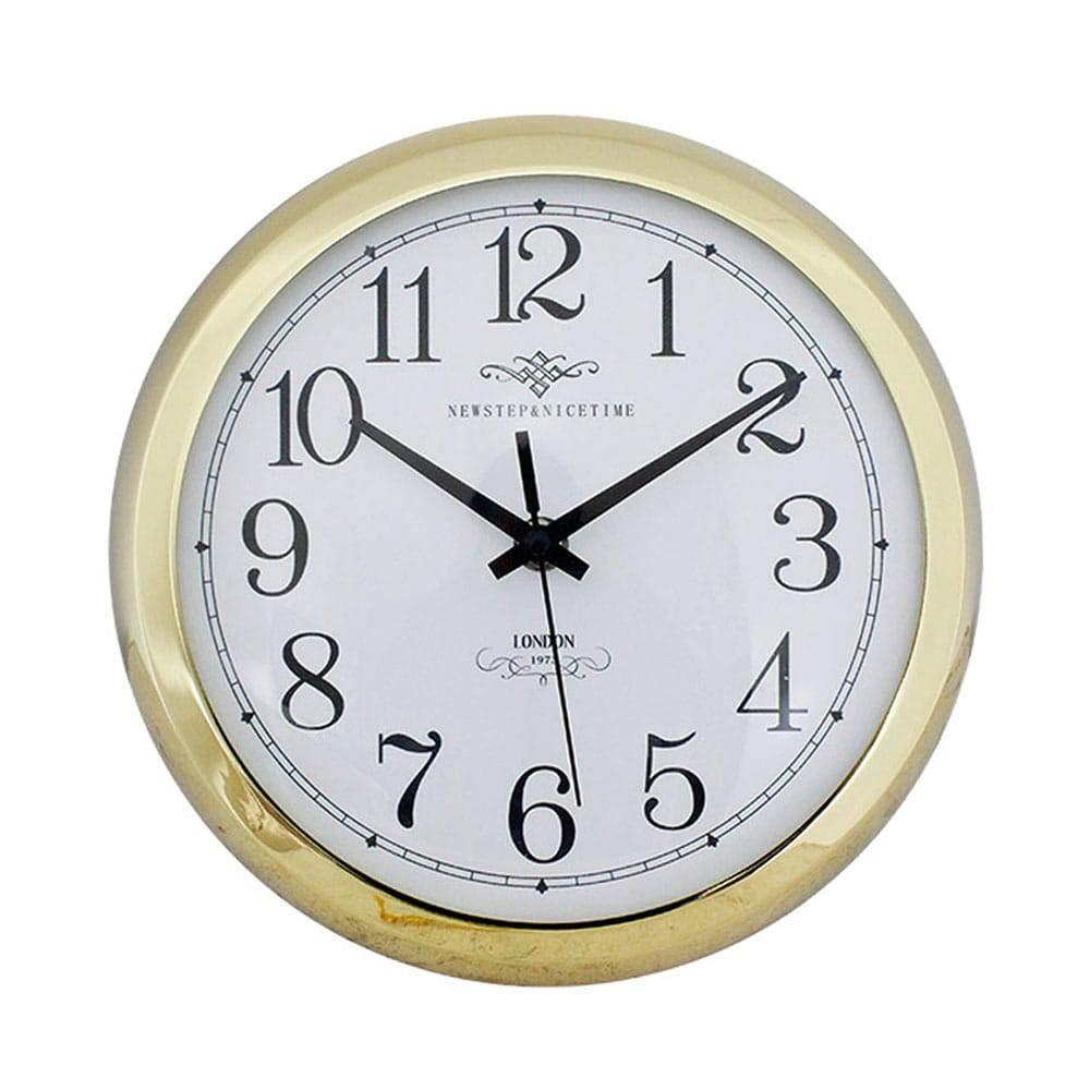 Relógio de Parede Anne Gold Goldway - 24x8 cm