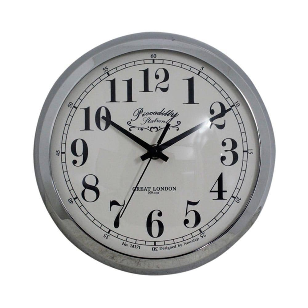 Relógio de Parede Anne Silver Goldway - 24x8 cm