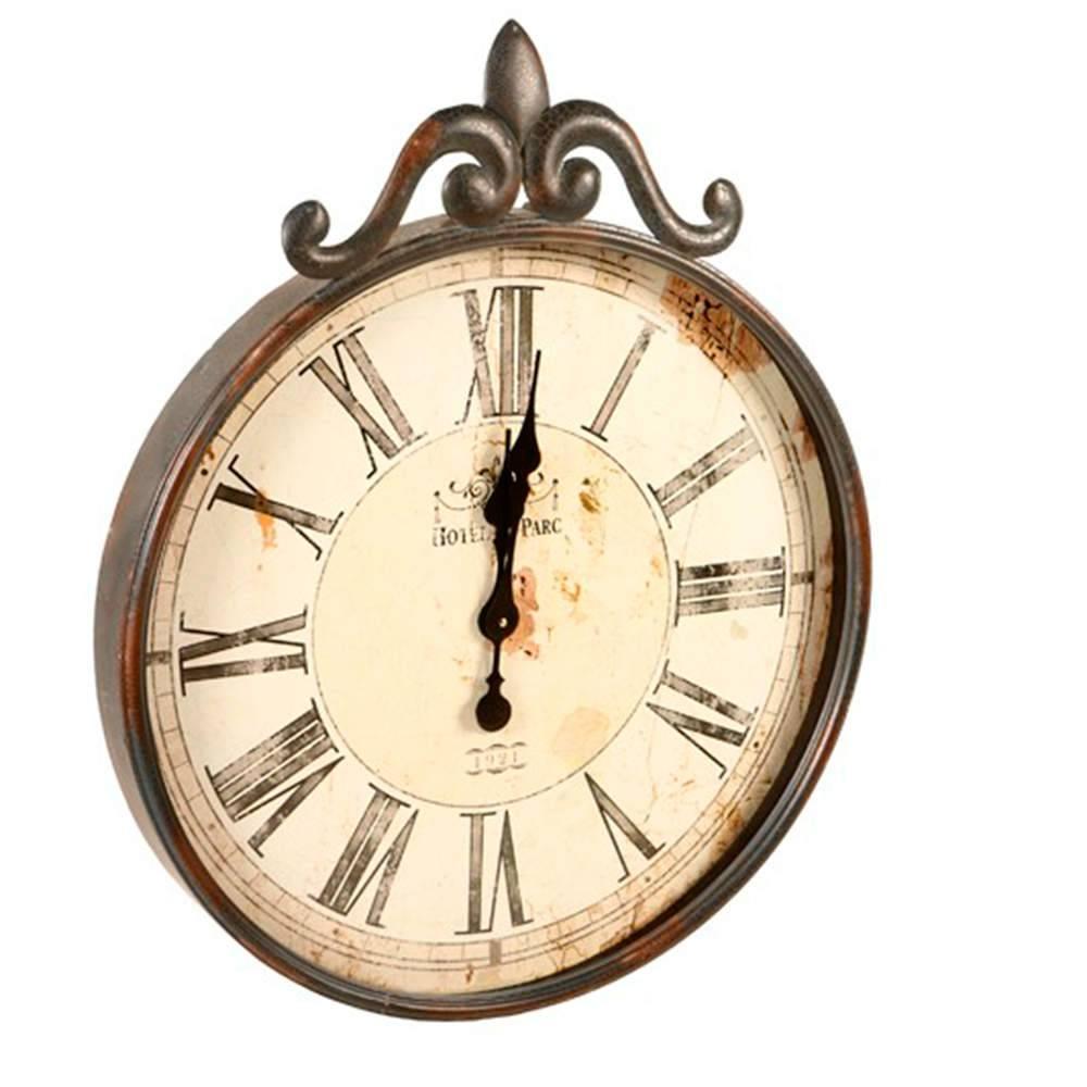 e8722b23162 Relógio de Parede Antigo Cinza Envelhecido em Metal - Compre ...