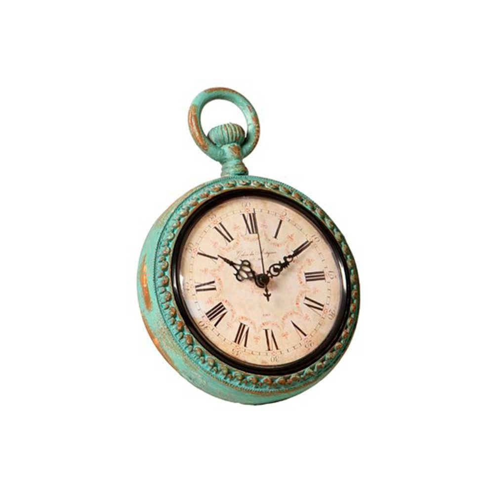 Relógio de Parede Aqualung Azul Pátina em Metal - 23x16 cm