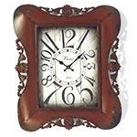 Relógio de Parede Arabescos Classic Vermelho Oldway - Metal - 65x54 cm